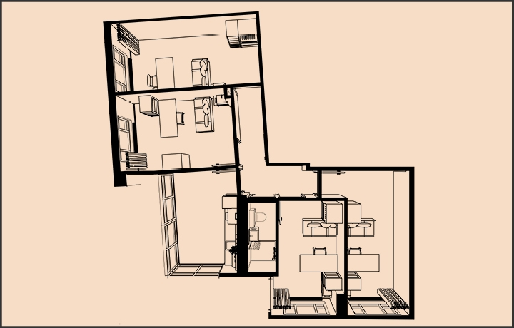 Te huur Wauwhaus maastricht - appartement 4 personen shoebox